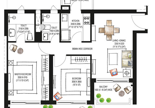 Krisumi Waterfall Residennces Floor Plan